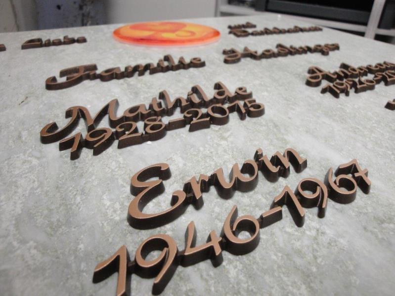 Urnentafeln, Bronzeschrift, Glas  - Stein & Design Schwarzenbacher, Steinmetz Uttendorf Pinzgau