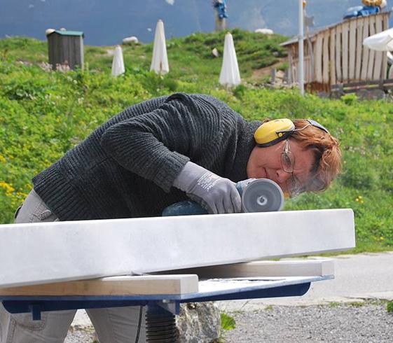 Hannelore Schwarzenbacher - Steinmetzmeisterin und Bildhauerin