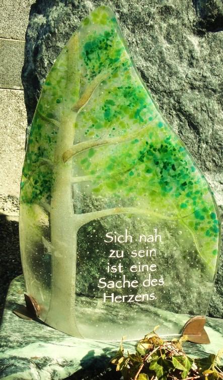 Kerzenglas, Hannelore Schwarzenbacher - Steinmetzmeisterin und Bildhauerin