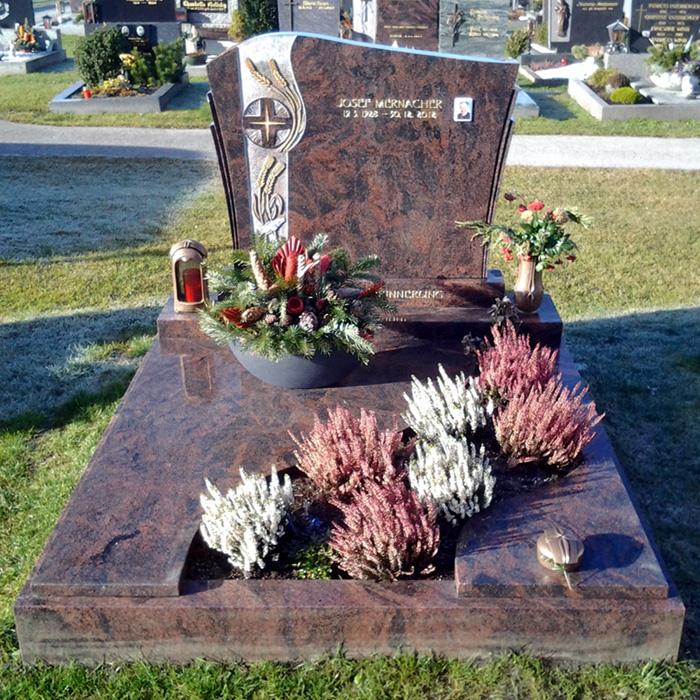 Familiengrab Kreuz mit Ähren - Stein & Design Schwarzenbacher
